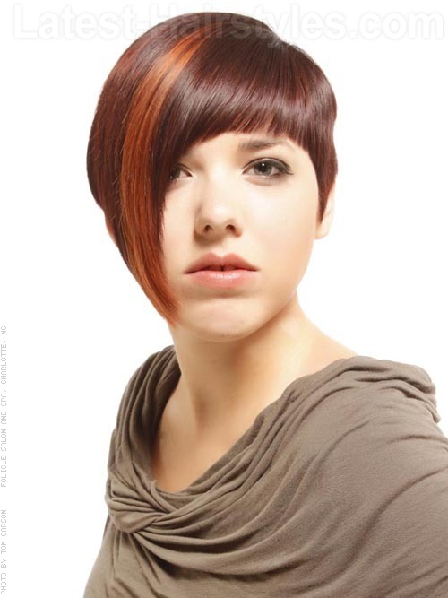 creative brunette forward swept cut