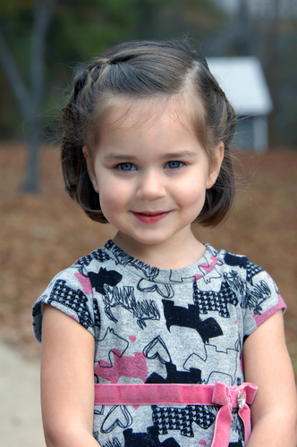 chin length little girls hairstyles