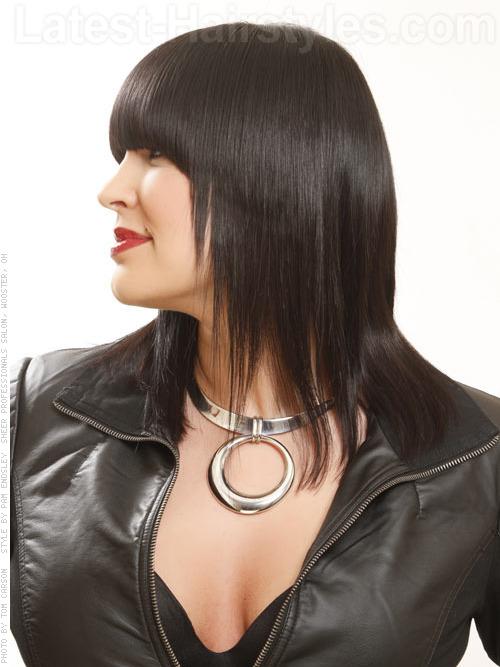 dark straight hair color