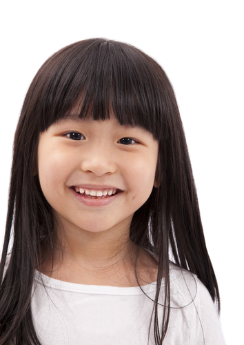 hairstyle for little girl with bangs