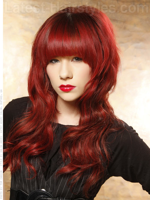 creative hair color wavy cut