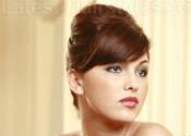 Updo hairstyle for medium length hair