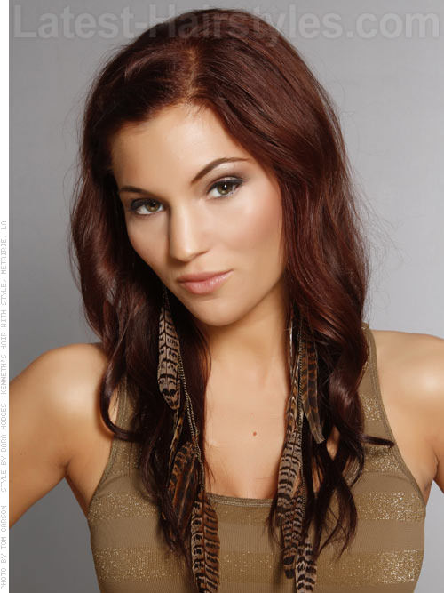 Nutmeg Colored Long Hair Colors Neutral Red