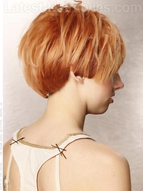 choppy strawberry blonde creative hair color 2