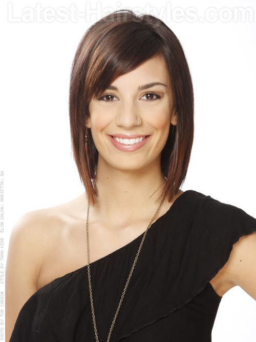 Sleek Layered Brunette Cut Wit