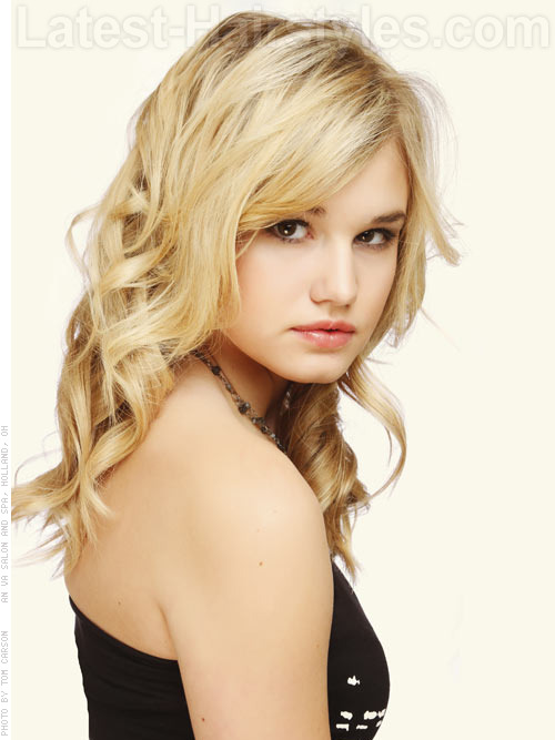 wavy blonde hairstyles for thin hair 2