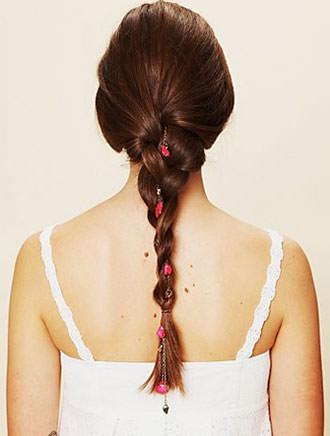 floral chain hair accessories
