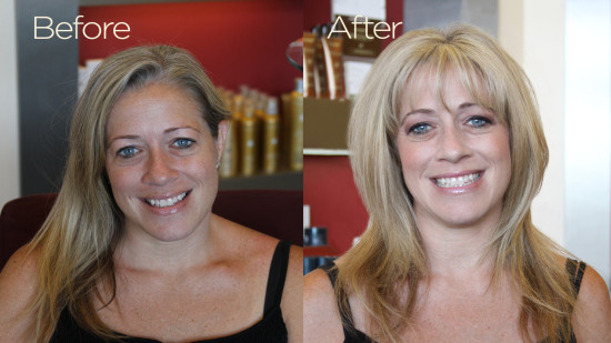 layered hairstyle makeover