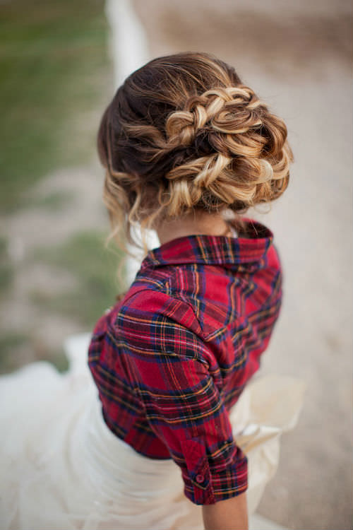 Braided Bridal Updo For Long Hair