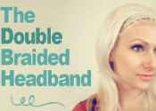 A double braided headband