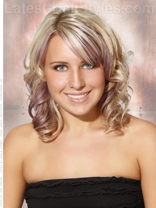 medium blonde summer hair color for teensLilac Highlights On Blonde Hair