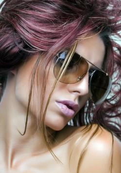 Pink Colored Hair Streaks
