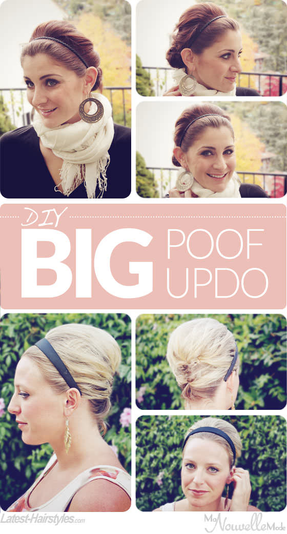 updo with headband tutorial