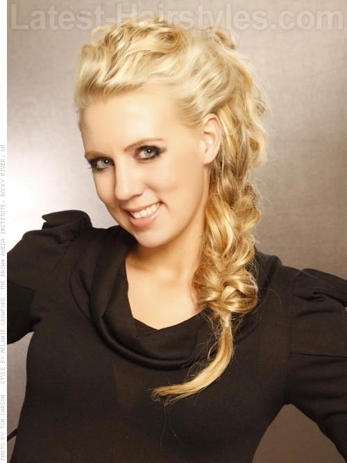 Pale Blonde Long Braided Style