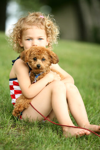 Little Girl with Sweet Curly Hairstyle