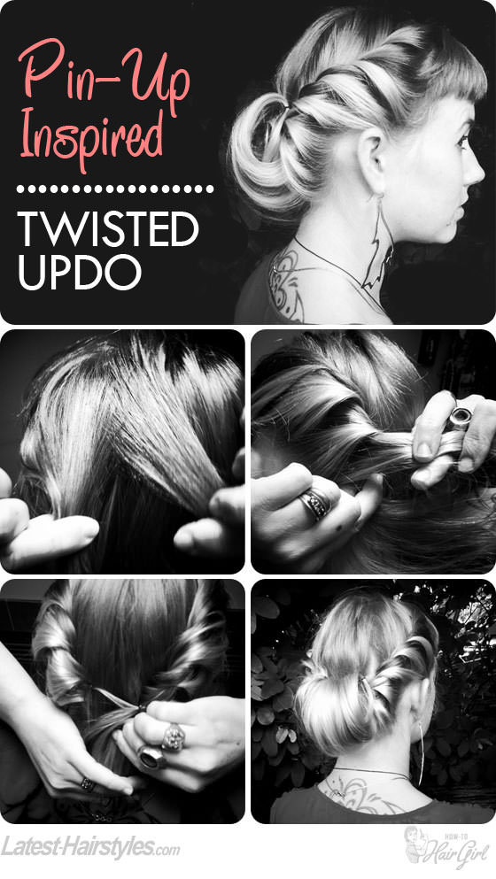 pin-up twisted updo tutorial