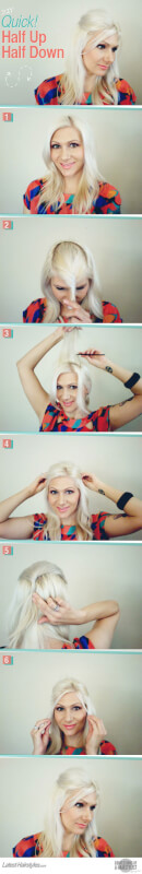The Super Quick, Half Up Half Down DIY Hairstyle You Must Try