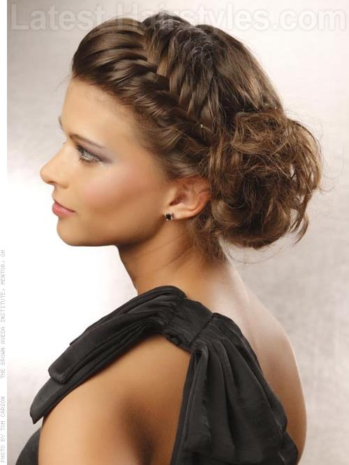 Classic Brunette School Hairstyle with Side Braid