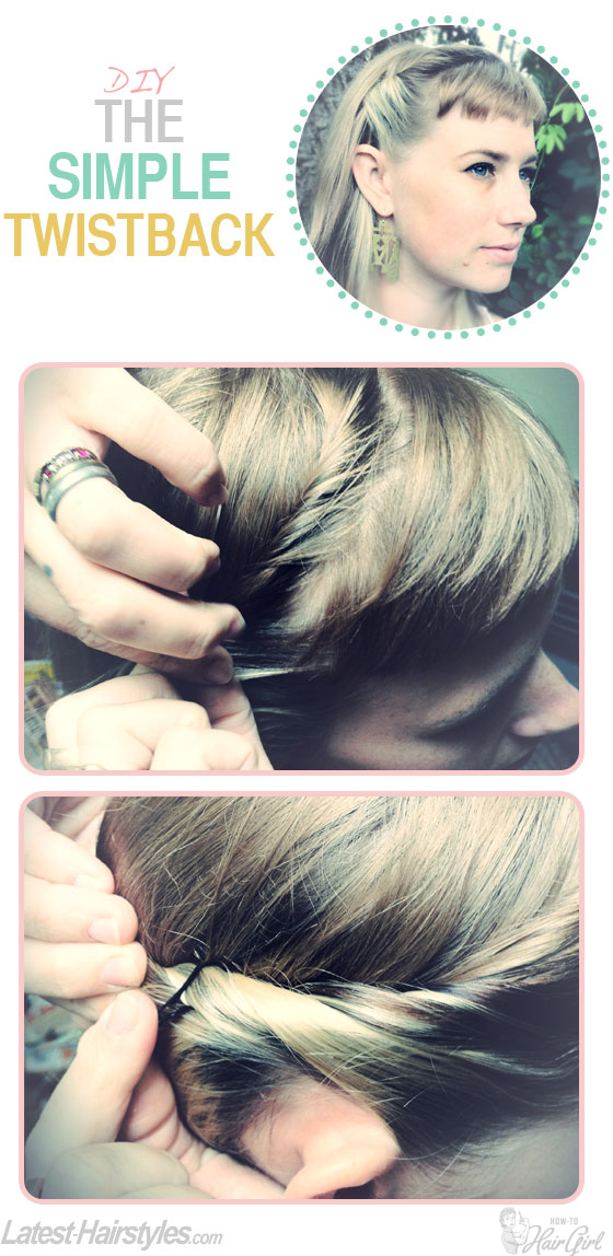 The simple twistback hair tutorial