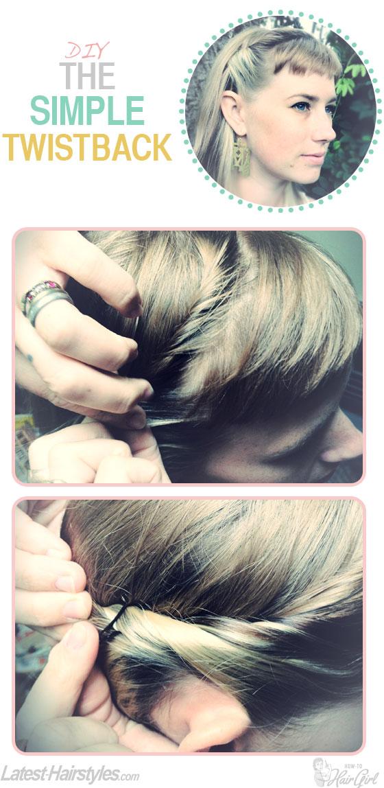 The simple twistback hair tutorial