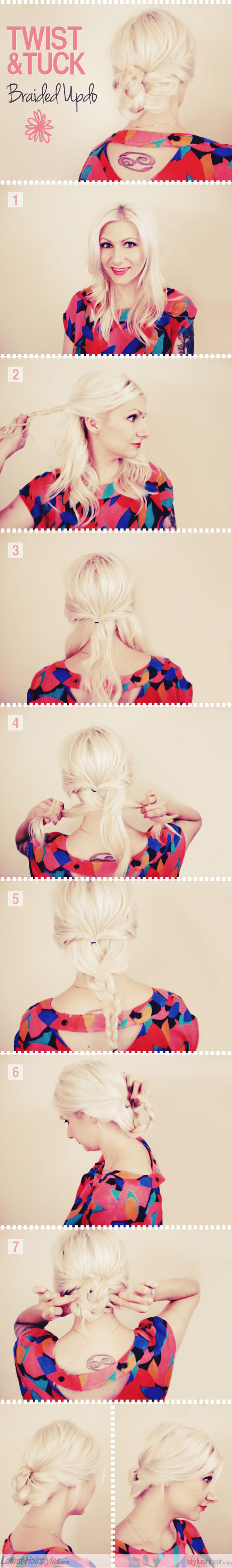 twisted braided updo hair tutorial