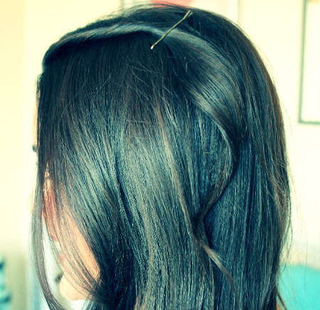 bobby pin twist hairstyle