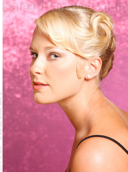 Ballerina Bun Elegant Pale Blonde Look Side View