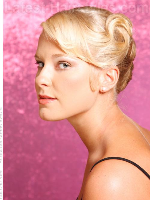 Ballerina Bun Elegant Pale Blonde Look Side View