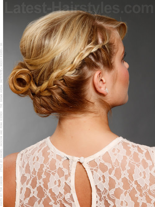 Boho Braid Updo Back View