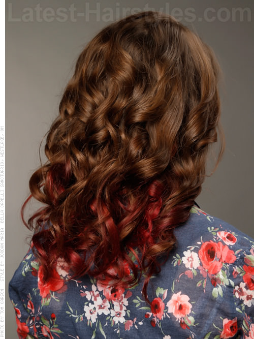 Cranberry Dream Curly Style Back View
