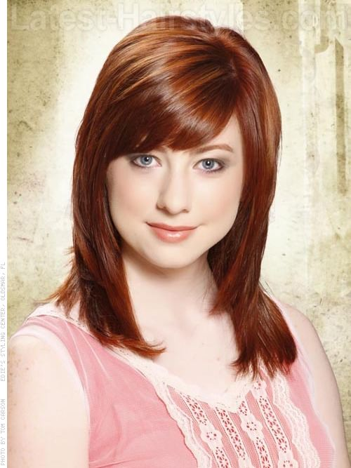 Fall Red Done Right Thick Shiny Red with Bangs