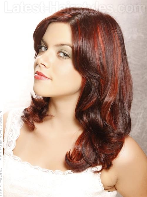 Dark mahogany red hair color