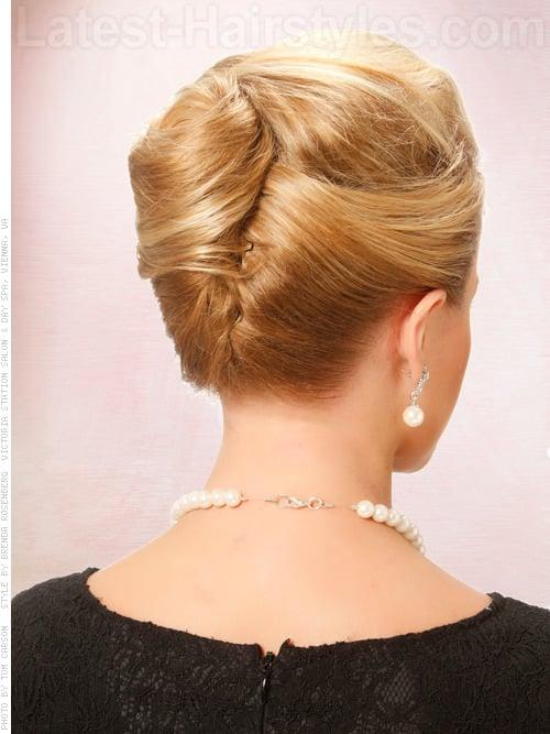 The Elegant Twist Classy Blonde Look Back View