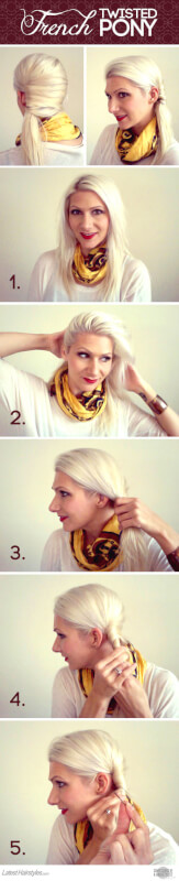 An Elegant French Twist Ponytail Tutorial Anyone Can Do