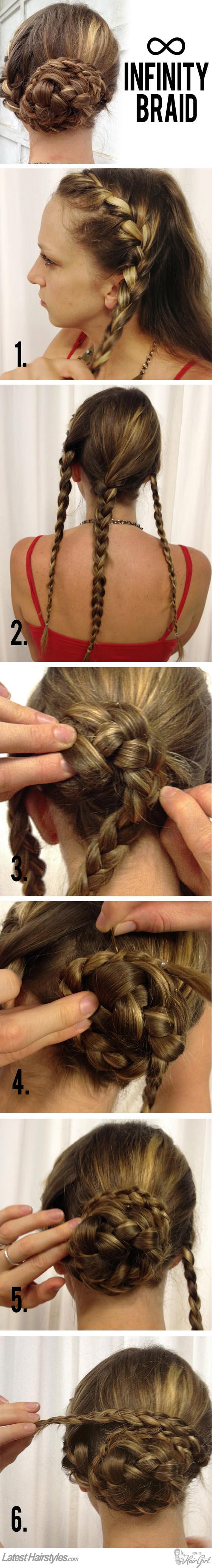 infinity braid hair tutorial
