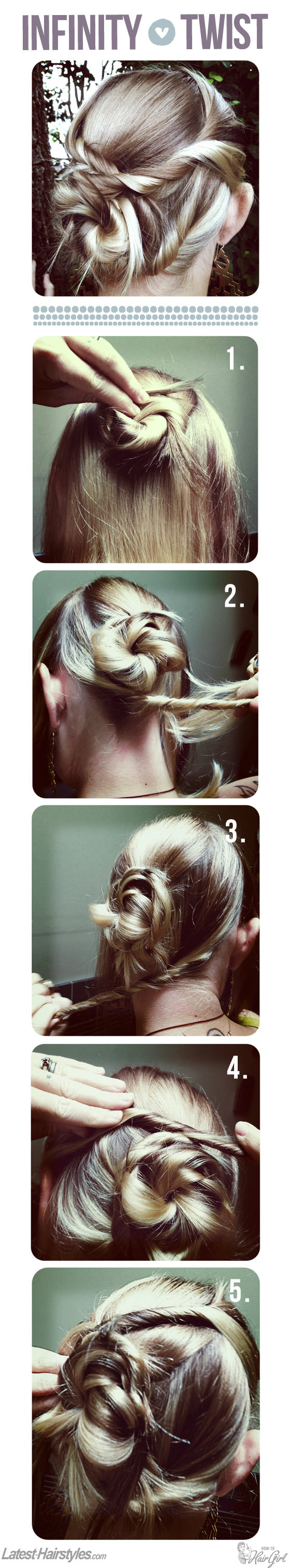 Infinity Twisted bun Hair Tutorial