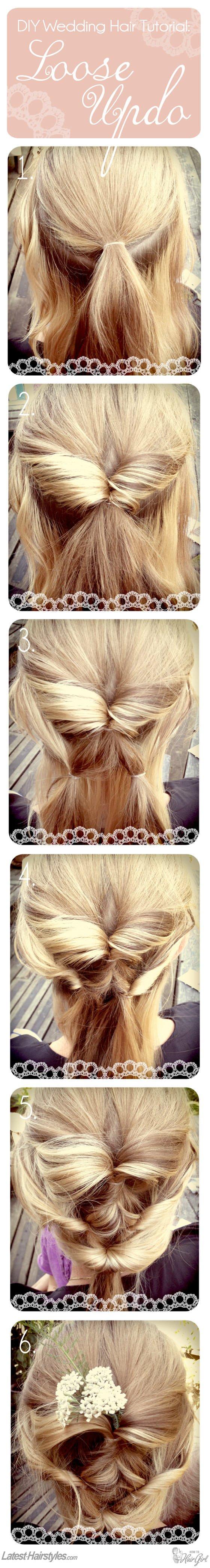 DIY wedding hair tutorial