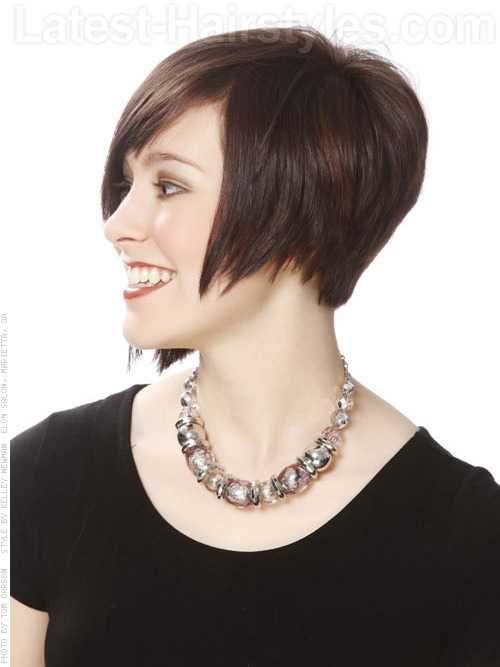 Balancing Act Asymmetrical Hairstyle For Oval Faces Profile View