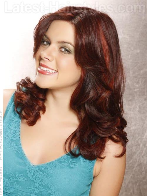 Face Framing Curls Long Wavy Look with Highlights