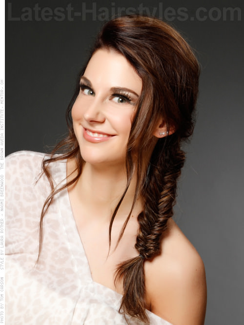 Fishtail Fun Long Braided Hair With Highlights