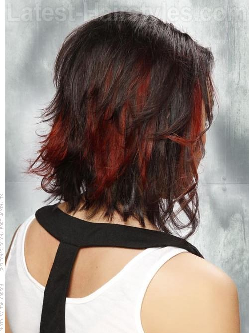 Flipping Out Cute Flippy Brunette Style Back View