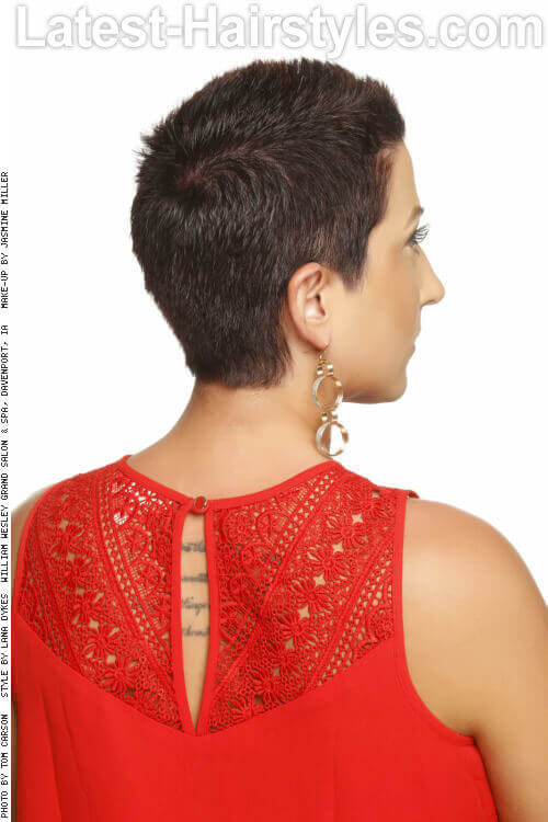 Bold Low Maintenance Pixie Back