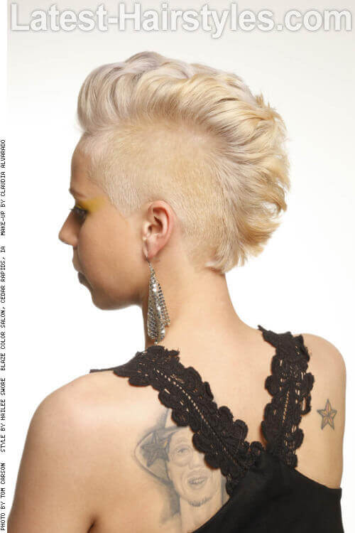 Fun Mohawk Pixie Side