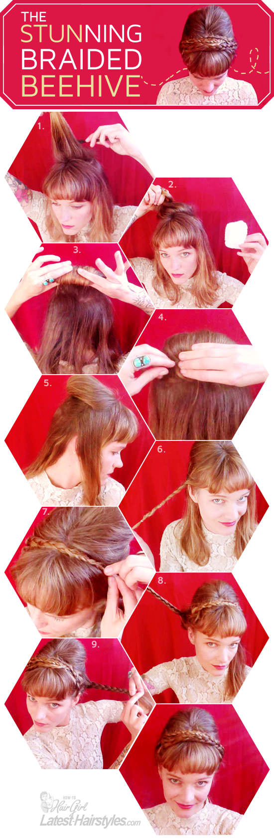 Learn How to Create This Classic Braided Beehive Hairstyle