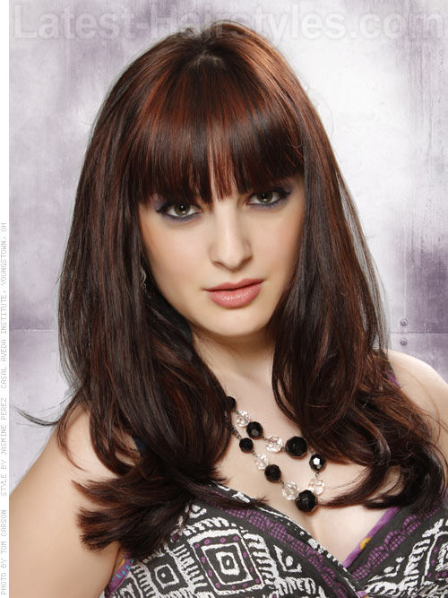 Brunette Style with Lots of Volume and Long Bangs for Long Hair - Haircuts for Long Hair