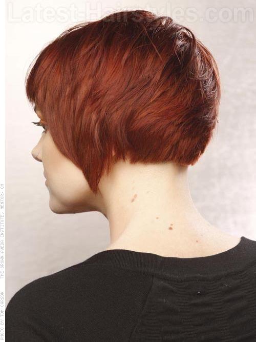 Women Back View Choppy cut bangs back view