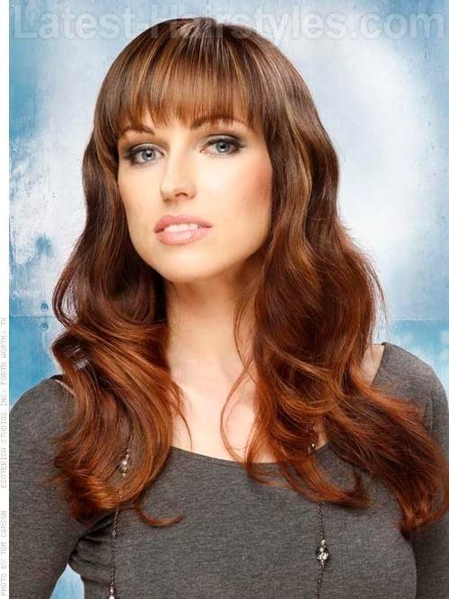 Wavy Long Brunette Haircuts for Long Hair
