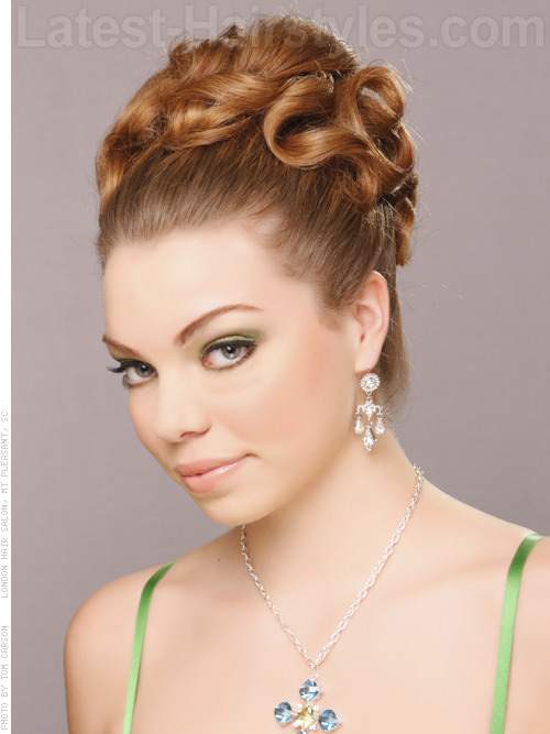 Grecian Lady Coiled Updo For Long Hair View 2