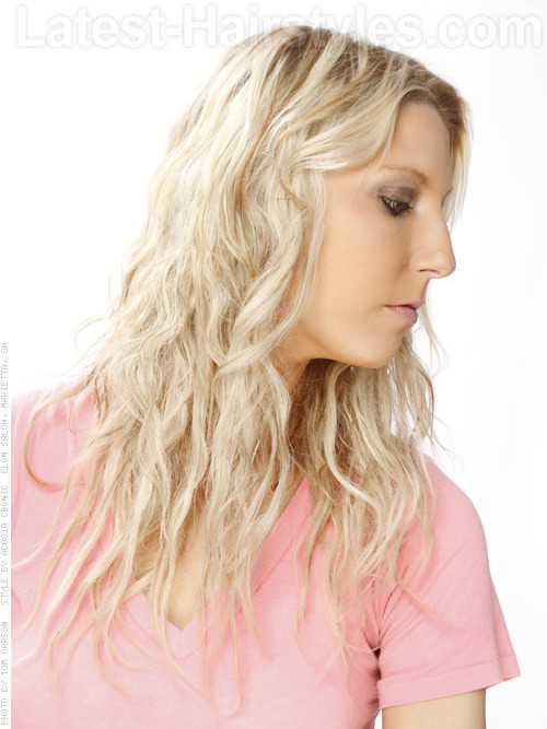 Long Beachy Light Blonde Hair - Wavy Long Haircuts
