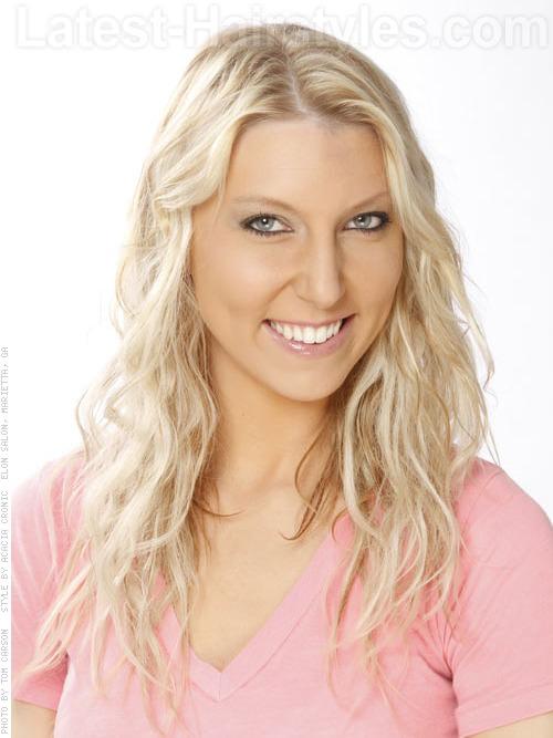 Long Beachy Light Blonde Hair - Wavy Style - Haircuts for Long Hair